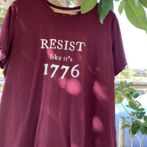 RESIST like it's 1776 tshirt tank woke sheeple freedom movement resistance maga trump tyranny