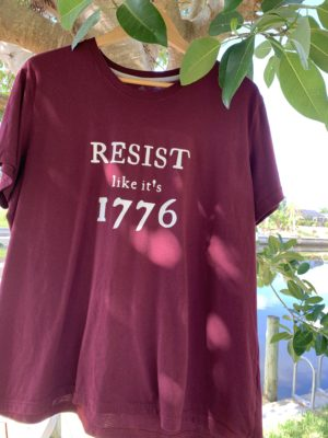 RESIST like it's 1776 tshirt tank woke sheeple freedom movement resistance maga trump tyranny